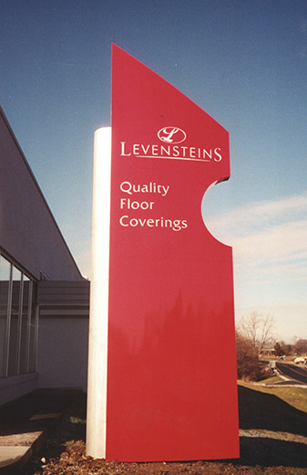Levenstein's Quality Floor Coverings Sign